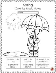 Spring Music Coloring Sheets 26 Pages