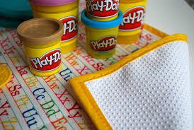 kid s non slip fabric play doh mat or coloring mat merriment design