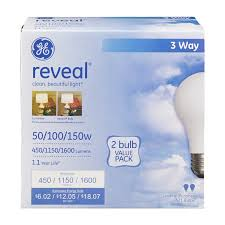 ge reveal 3 way halogen light bulbs soft white 2 count