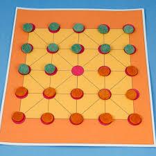Simple Alquerque Game Board