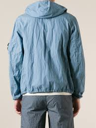 c p company hooded jacket in blue for men lyst