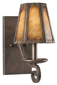 pair of vintage brushed copper light fixture western country