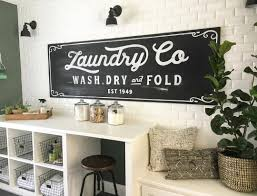 Vintage Inspired Chalkboard Laundry Sign