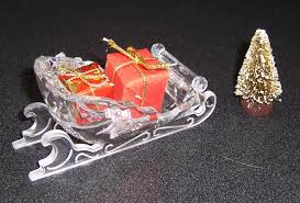 Swarovski Silver Crystal Sleigh With Presents And Tree