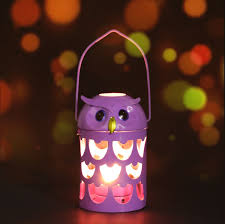 Best and cheap purple Tooarts Owl Candle Holder Practical Ornament