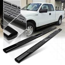 100 Side Step For Truck Black 4 Oval Nerf Bar Running Board For 0414 D F150