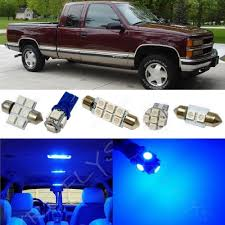 100 1998 Chevy Truck 14x Blue LED Light Interior Package 1995 Silverado GMC