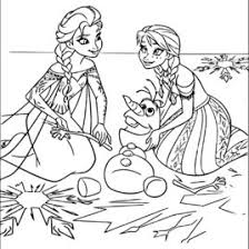 Frozen Printable Coloring Pages For