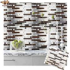 3d mosaik selbst kleber fliesen backsplash wand aufkleber vinyl aufkleber badezimmer küche home decor diy