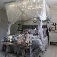 beleuchtungs dekoration romantische schlafzimmer winter
