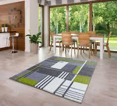 billiger moderner grau grün weiß teppich 80x150 120x170