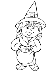Witch Costume Free Halloween Coloring Pages For Kids To Print