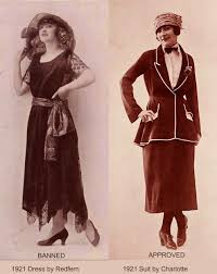 1920s Fashion US Banks Ban Flappers 1922 Report