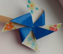 Crafts For Children How To Make A Rotator From Paper