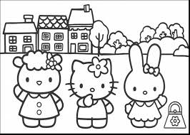Awesome Hello Kitty And Friends Coloring Pages With Halloween