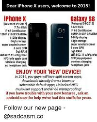 Android Apple and Iphone Dear iPhone X users wel e to 2015