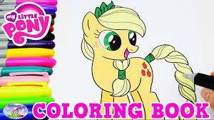 My Little Pony Coloring Book Applejack MLP Episode Surprise Egg And Toy Collector SETC