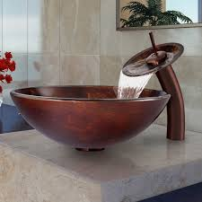 Overstock Bronze Kitchen Faucets by Turn Your Bathroom Into An Exotic Oasis When You Add This Glass