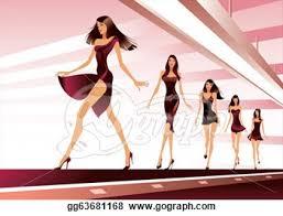 Clipart Models Runway