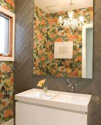 Bathroom Powder Room Ideas With Wallpaper Lovely Floral Bathrooms ... Bathroom Wallpapers Inspiration Wallpaper Anthropologie Best Wallpaper Ideas 17 Beautiful Wall Coverings Modern Borders Model Design 1440x1920px For Wallpapersafari Download Small 41 Mariacenourapt 10 Tips Rocking Mounted Golden Glass Mirror Mount Fniture Small Bathroom Ideas For Grey Modern Pinterest 30 Gorgeous Wallpapered Bathrooms