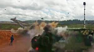 100 Russian Military Trucks Watch This KA52 Attack Chopper Accidentally Fire Rockets At