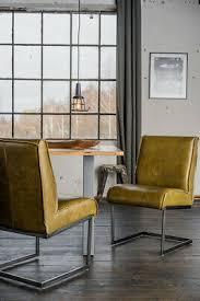 kawola stuhl lenny esszimmerstuhl freischwinger leder olivgrün füße eisen ebay