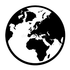 Simple Earth Globe In Vectorial Format Stock Vector Illustration