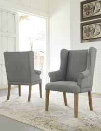 Ollesburg Gray Dining Upholstered Arm Chair