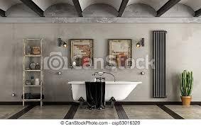 badezimmer industrie stil badewanne badezimmer