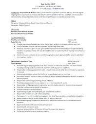 School Social Worker Resume Examples Of Work Resumes Example Hospital Regarding Medical Cover