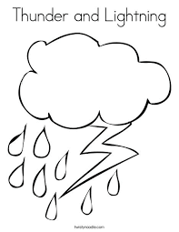 Cloud Coloring Pages Rain And Lightning Page Cloudjumper Dragon