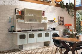 View In Gallery Bring Back The 1950s With A Vintage Modular Kitchen Crafted For Your Home