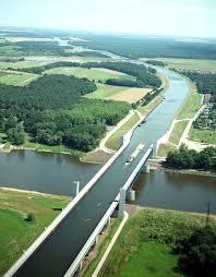 100 Water Bridge Germany Magdeburg Places