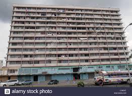 Panama City Ancon High Rise Apartment Building Tenement Slum Housing Clothes Line Run Down Urban Decay Poverty Disrepair