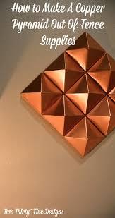 Fancy Copper Pyramid Wall Art