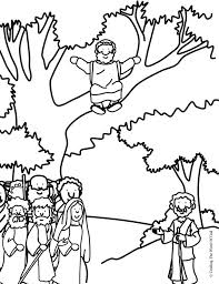 Zacchaeus Come Down Coloring Page Pages Are A Great Way To End Sunday School Lesson They Can Serve As Take Home Activity