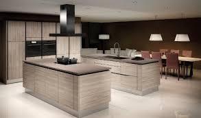 ilots cuisine cuisine moderne avec ilot c3 aelot dangle style blanc inox bois noir