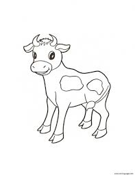 Cute Calf Farm Animal S32ee Coloring Pages Print Download