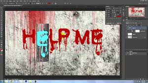 Photoshop Tutorial HORROR Effect How To Make A Scary Wall Scrawled