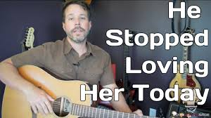 George Jones Rockin Chair Chords by How To Play He Stopped Loving Her Today By George Jones Guitar