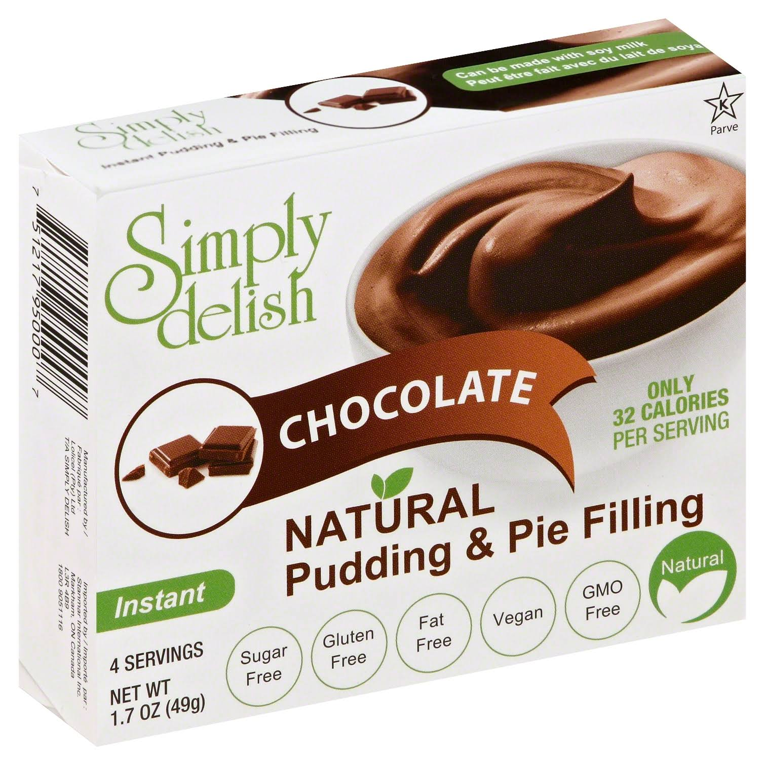 Simply Delish Chocolate Pudding and Pie Filling - 1.7oz
