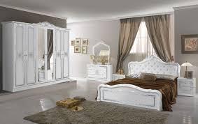 barock schlafzimmer set livia in weiss 4 teilig 180 x 200 cm mit kommode spiegel 6 türig