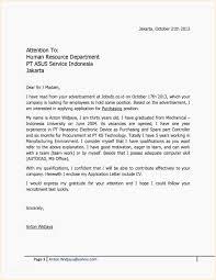Application Letter Sample For Fresh Graduate Business Administration Of