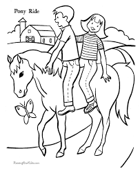 Horse Free Printable Coloring Page