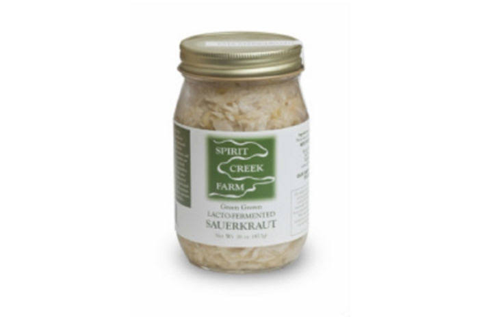 Spirit Creek Farm Lacto-Fermented Green Sauerkraut
