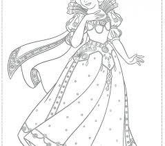 Christmas Princess Coloring Pages Images For Kids Disney