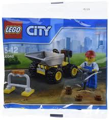 100 Lego City Dump Truck LEGO Mini Vehicle And Construction Worker Minifigure