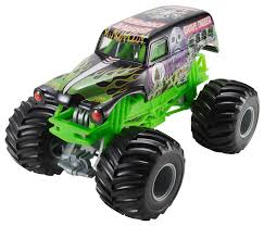 Hot Wheels Monster Jam Grave Digger Die-Cast Vehicle, 1:24 Scale ...