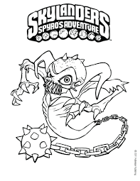 Skylanders Printable Colouring Sheets Giants Pages Hot Dog Swap Force Coloring Ghost Roaster Page Adventure