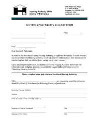 Nycha Section 8 Portabilty Request Form Download Fill line